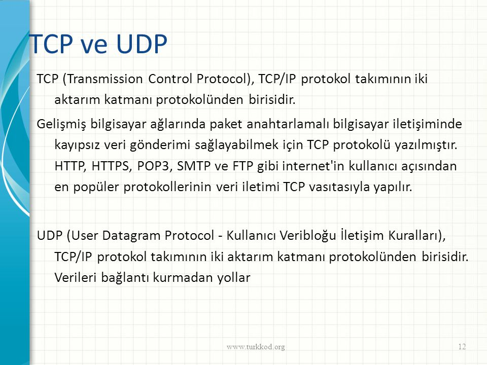 TCP ve UDP
