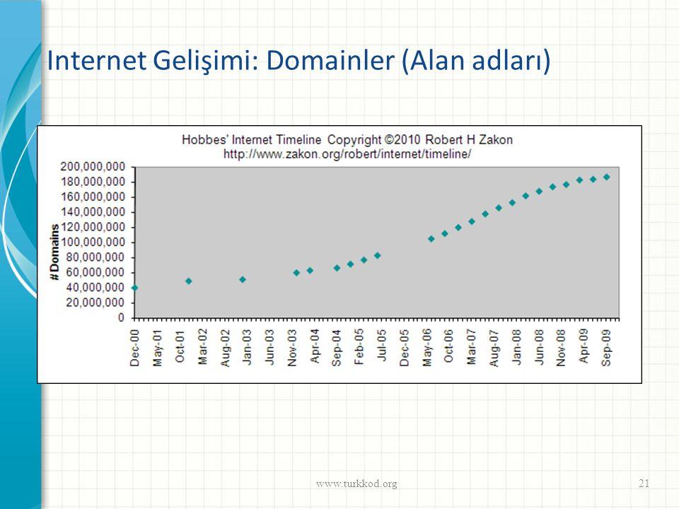 Internet Gelişimi: Domainler (Alan adları)