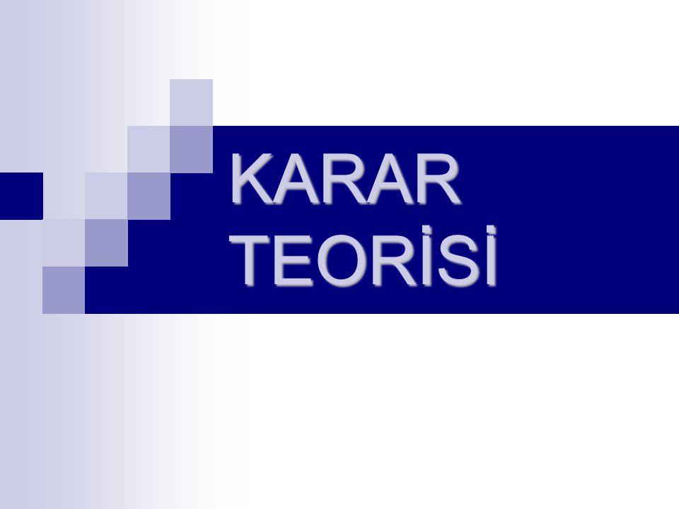 KARAR TEORİSİ