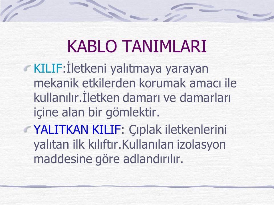 KABLO TANIMLARI