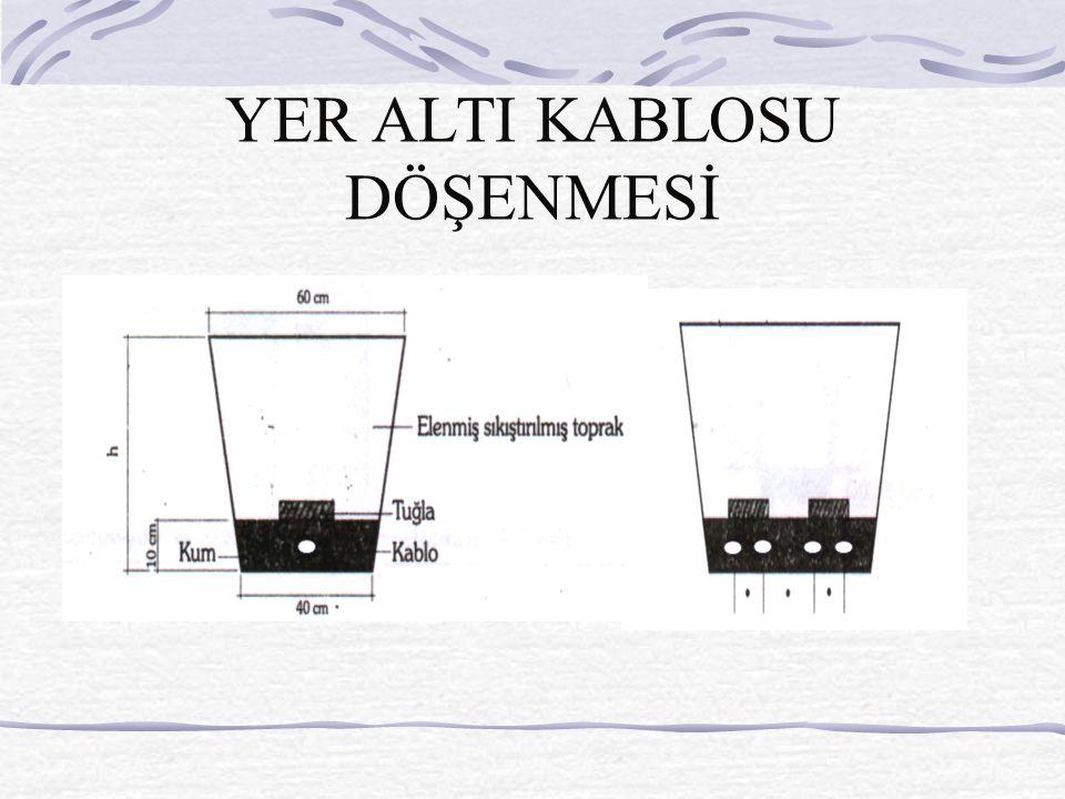 YER ALTI KABLOSU DÖŞENMESİ