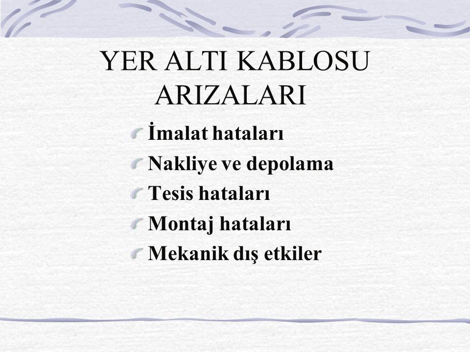 YER ALTI KABLOSU ARIZALARI