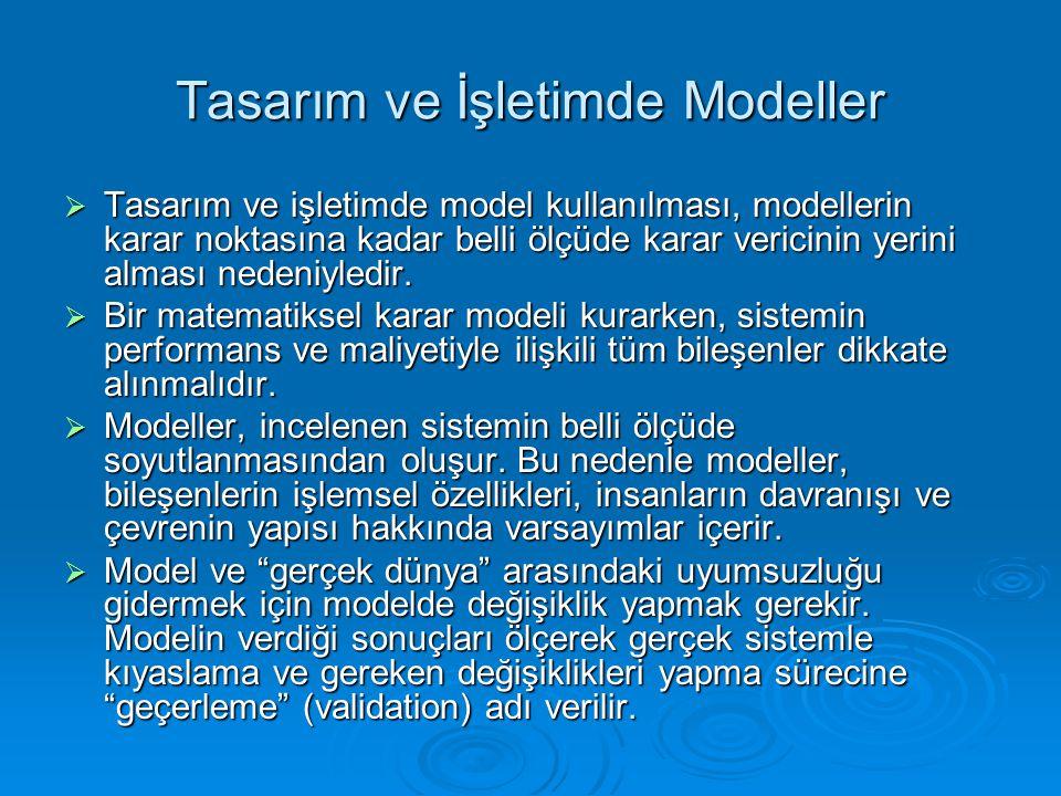 Tasarım ve İşletimde Modeller