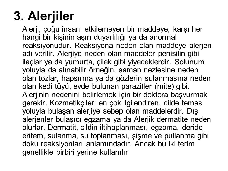 3. Alerjiler