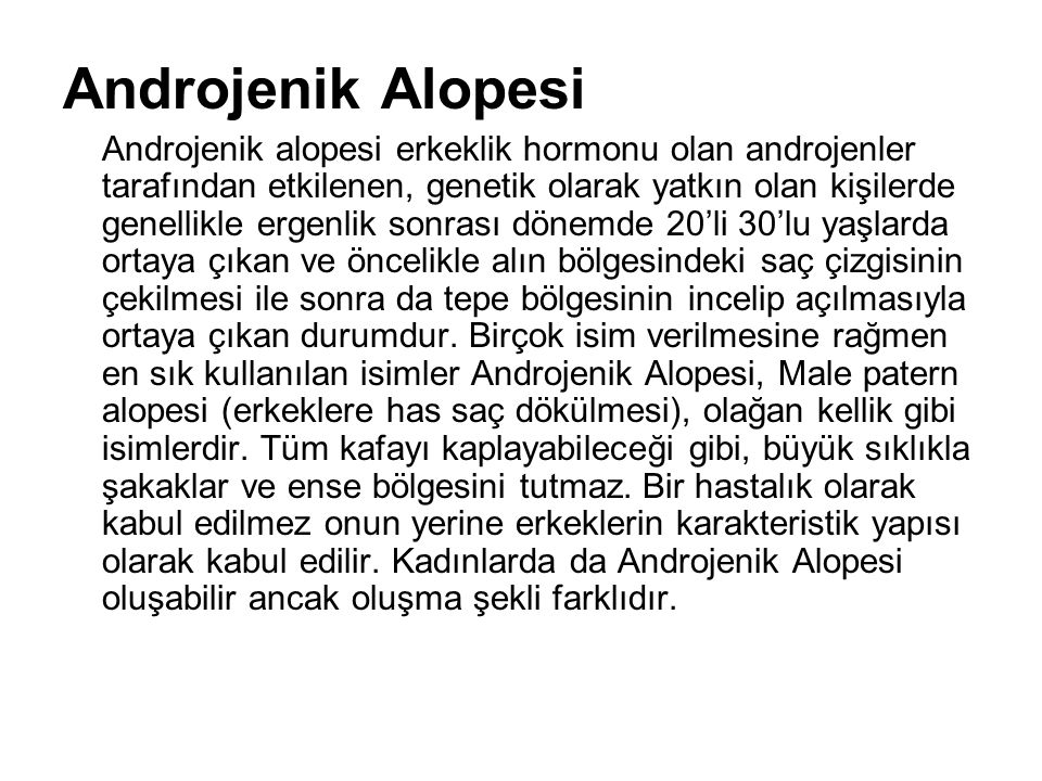 Androjenik Alopesi