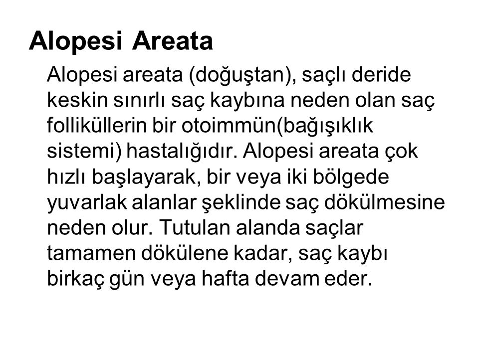 Alopesi Areata
