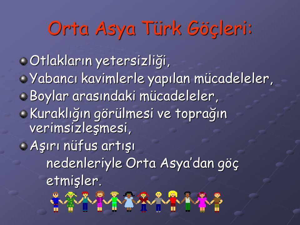 Orta Asya Türk Göçleri: