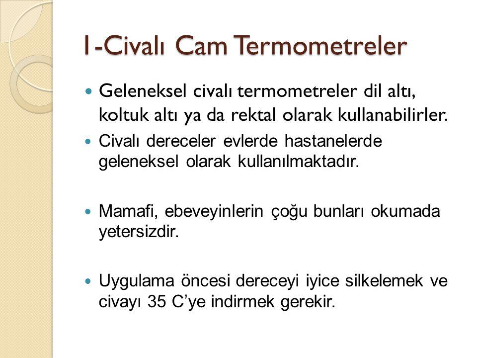 1-Civalı Cam Termometreler