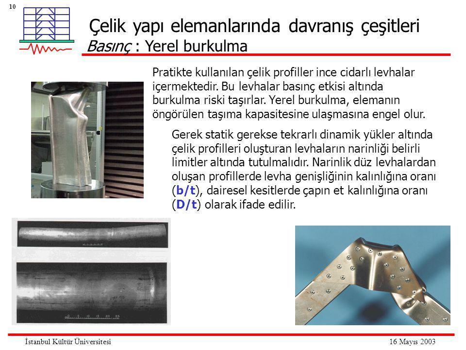 Çelik yapı elemanlarında davranış çeşitleri