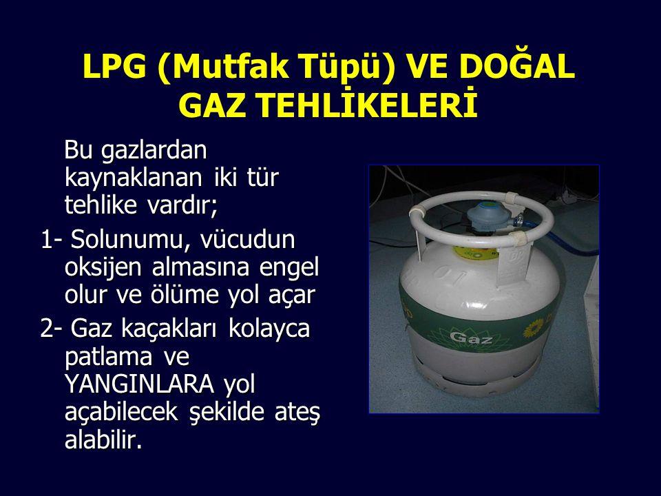 LPG (Mutfak Tüpü) VE DOĞAL GAZ TEHLİKELERİ