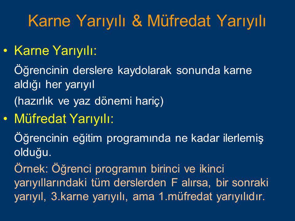 Karne Yarıyılı & Müfredat Yarıyılı