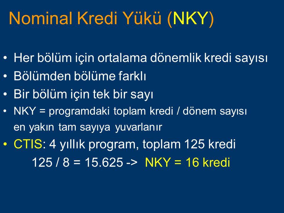 Nominal Kredi Yükü (NKY)