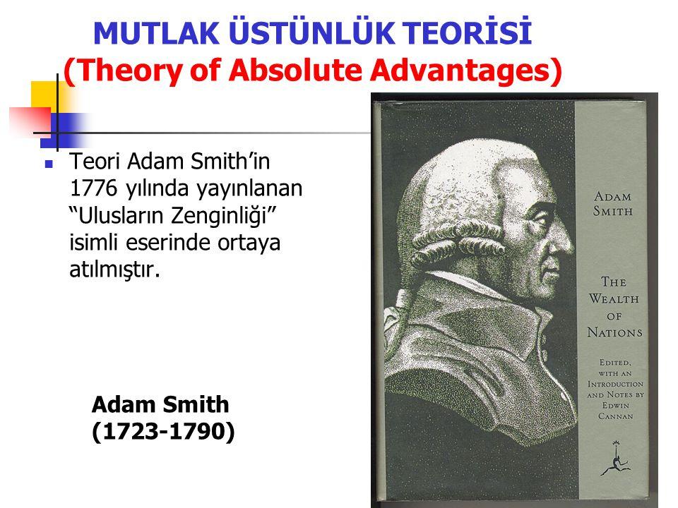 MUTLAK ÜSTÜNLÜK TEORİSİ (Theory of Absolute Advantages)