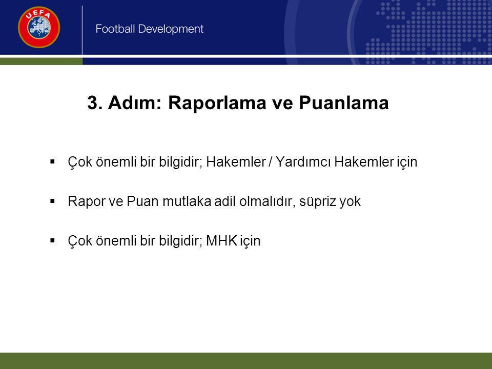 3. Adım: Raporlama ve Puanlama