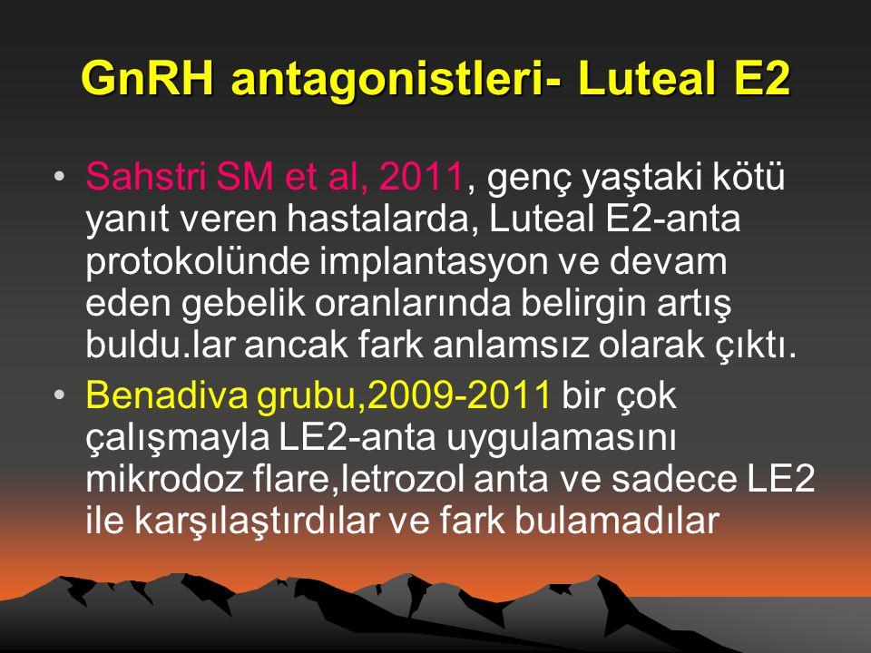 GnRH antagonistleri- Luteal E2