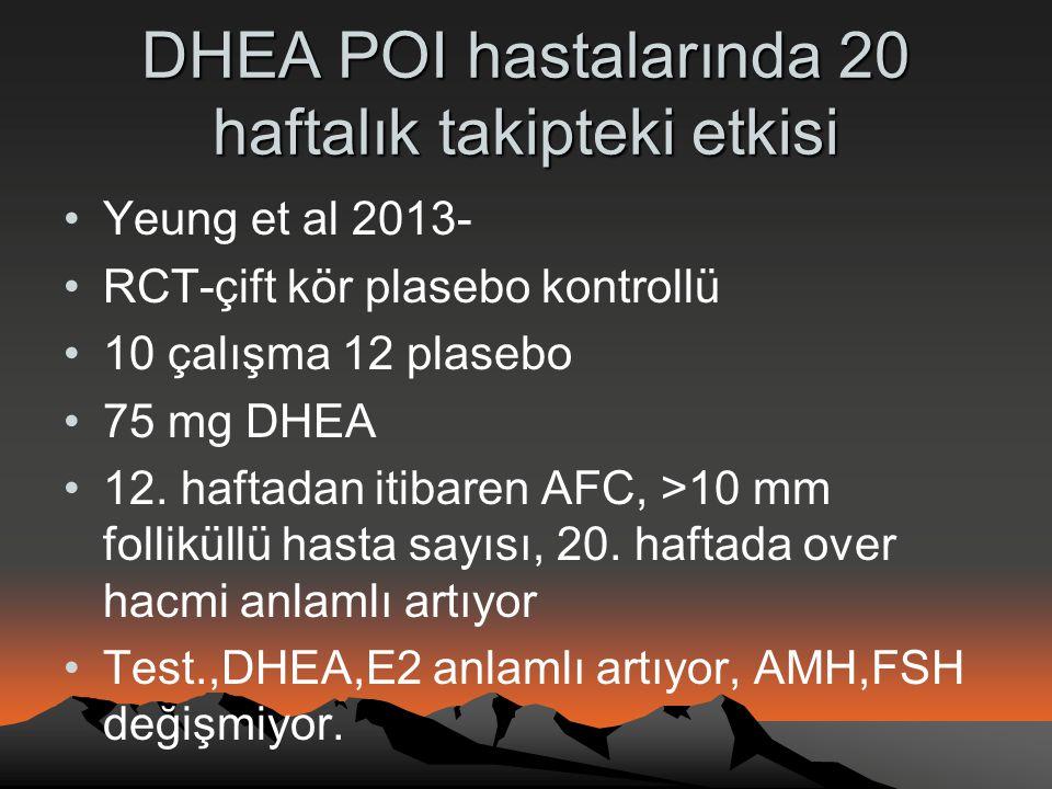 DHEA POI hastalarında 20 haftalık takipteki etkisi