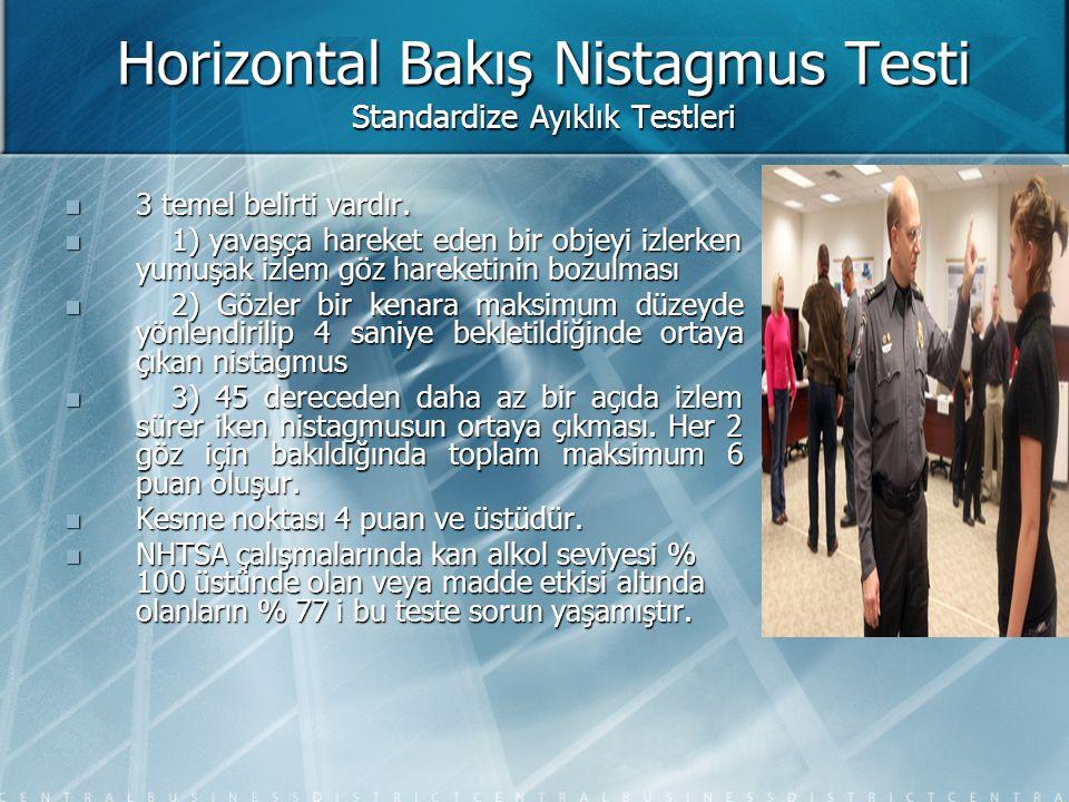 Horizontal Bakış Nistagmus Testi Standardize Ayıklık Testleri