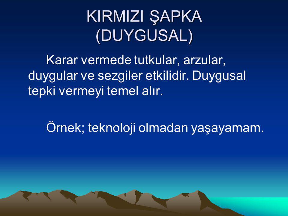 KIRMIZI ŞAPKA (DUYGUSAL)