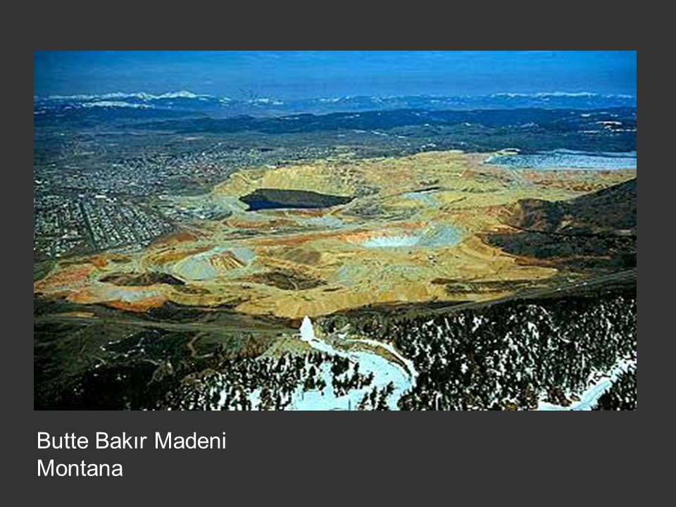 Butte Bakır Madeni Montana