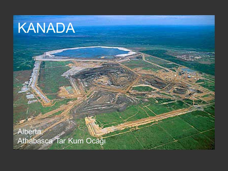 KANADA Alberta, Athabasca Tar Kum Ocağı