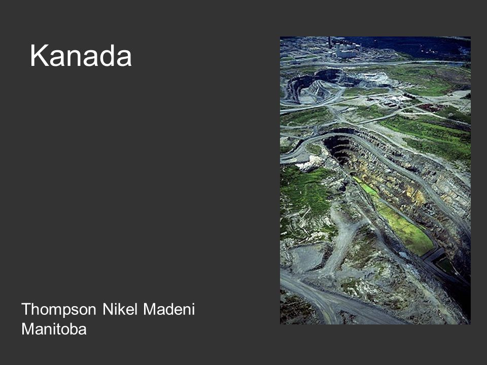 Kanada Thompson Nikel Madeni Manitoba