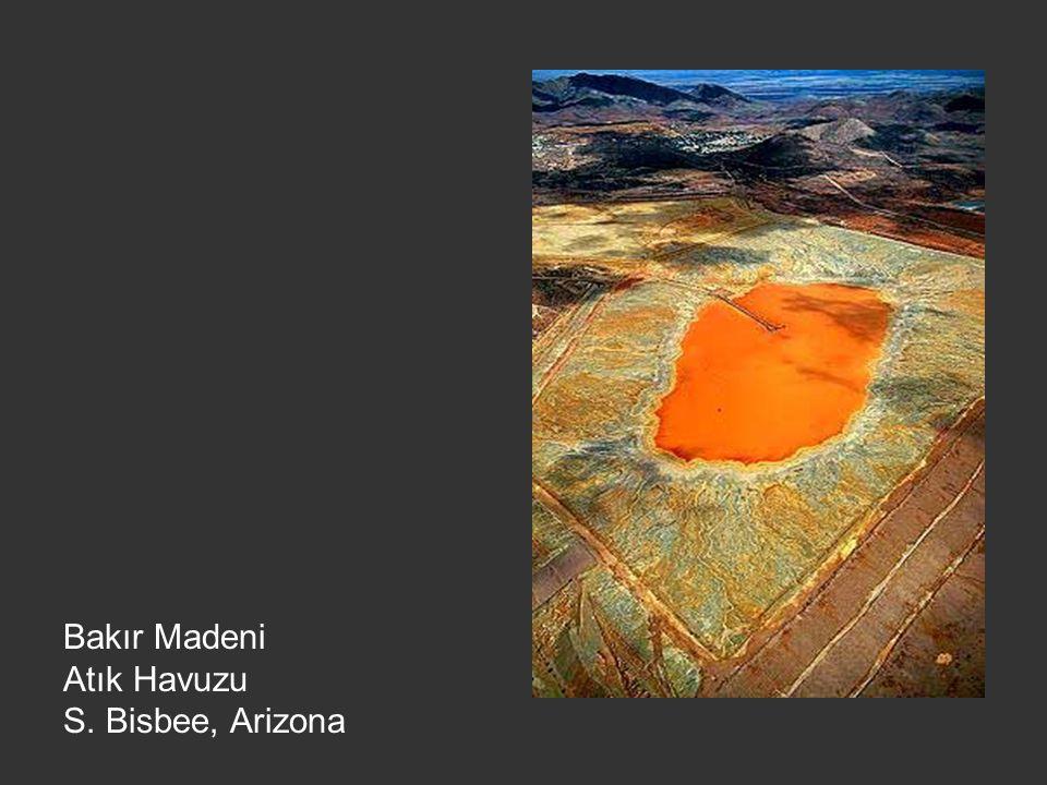 Bakır Madeni Atık Havuzu S. Bisbee, Arizona
