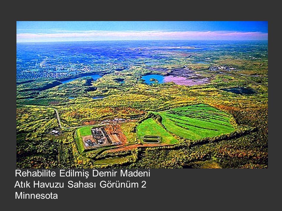 Rehabilite Edilmiş Demir Madeni Atık Havuzu Sahası Görünüm 2 Minnesota
