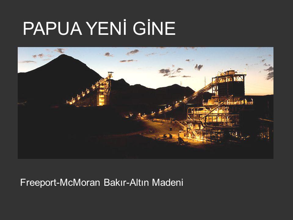 PAPUA YENİ GİNE Freeport-McMoran Bakır-Altın Madeni