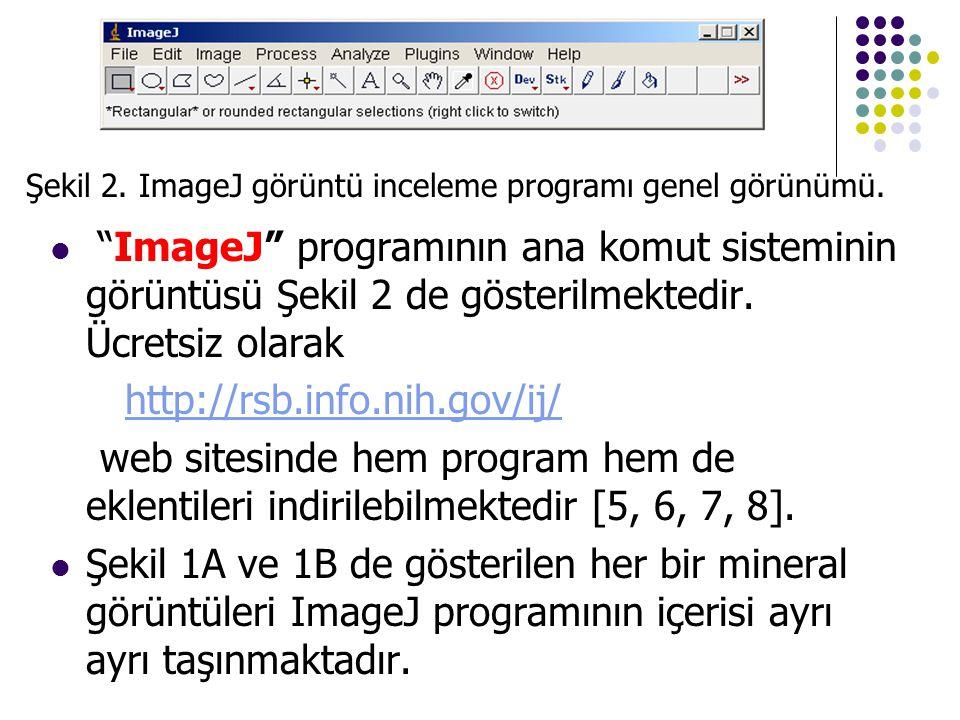 Şekil 2. ImageJ görüntü inceleme programı genel görünümü.