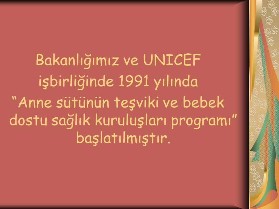Bakanlığımız ve UNICEF