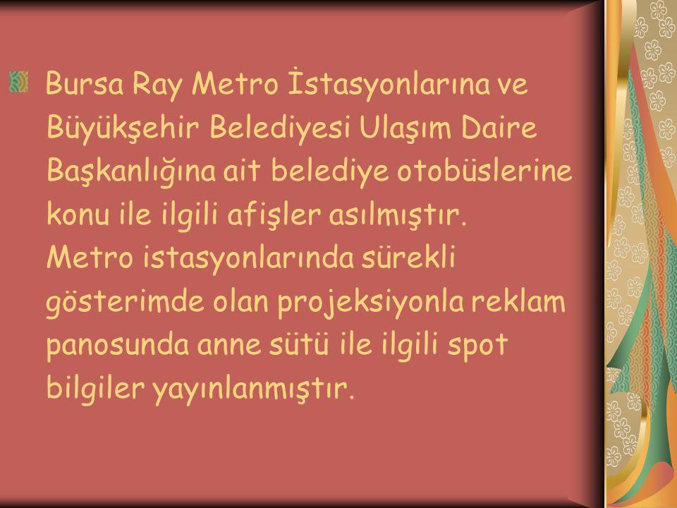 Bursa Ray Metro İstasyonlarına ve
