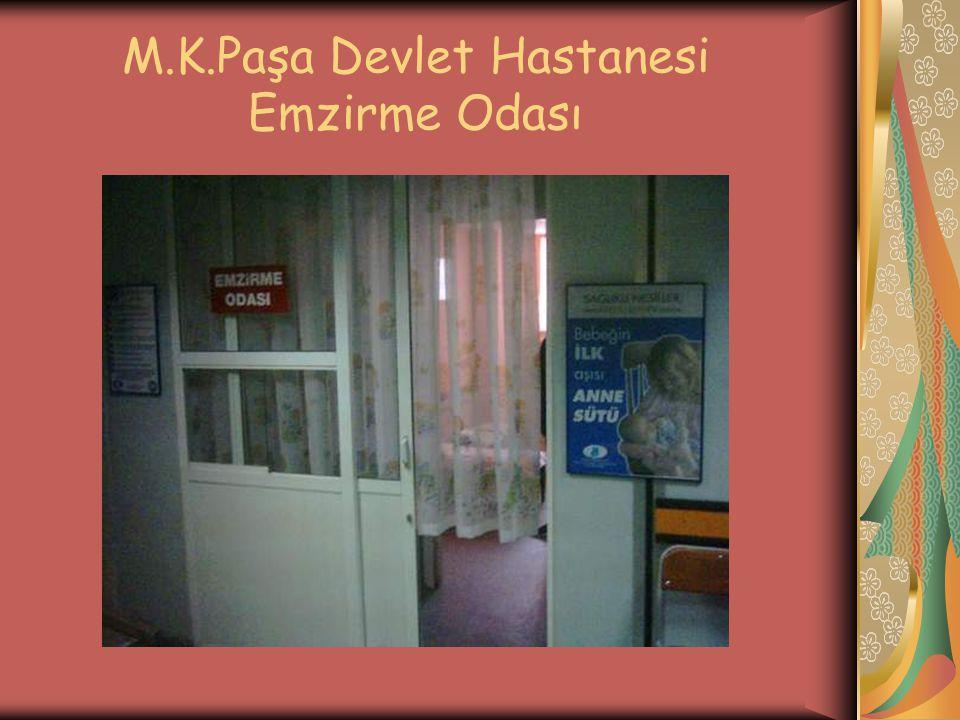 M.K.Paşa Devlet Hastanesi Emzirme Odası