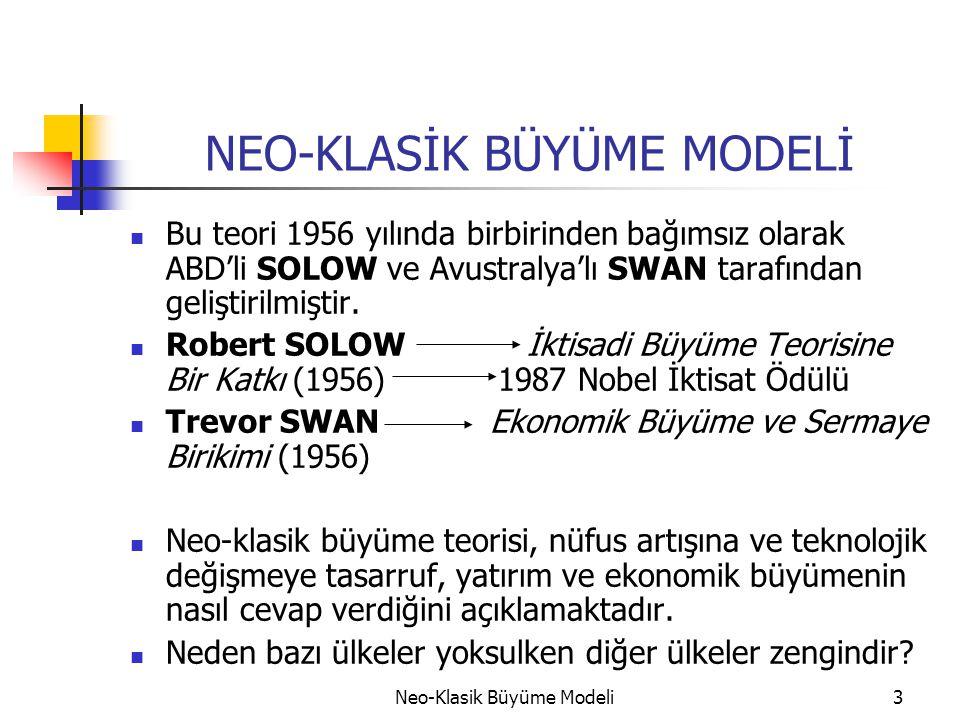 NEO-KLASİK BÜYÜME MODELİ