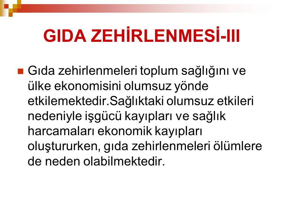 GIDA ZEHİRLENMESİ-III
