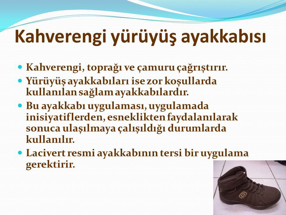 Kahverengi yürüyüş ayakkabısı