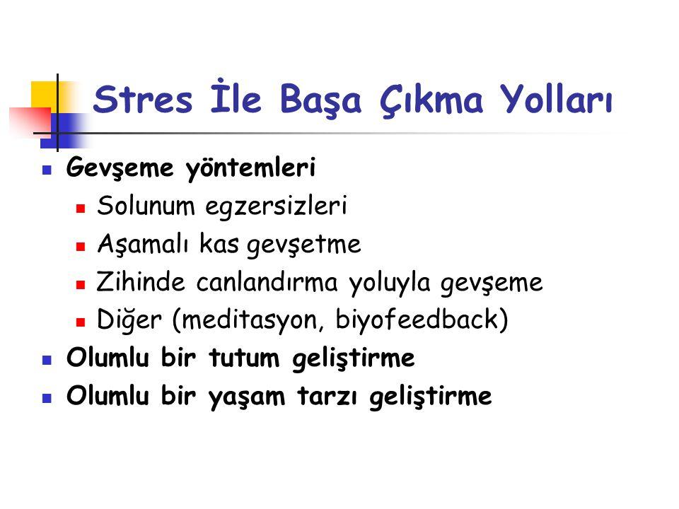Stres İle Başa Çıkma Yolları
