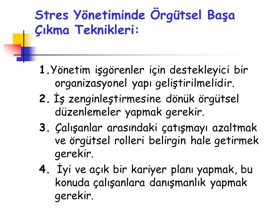 Stres Yönetiminde Örgütsel Başa Çıkma Teknikleri: