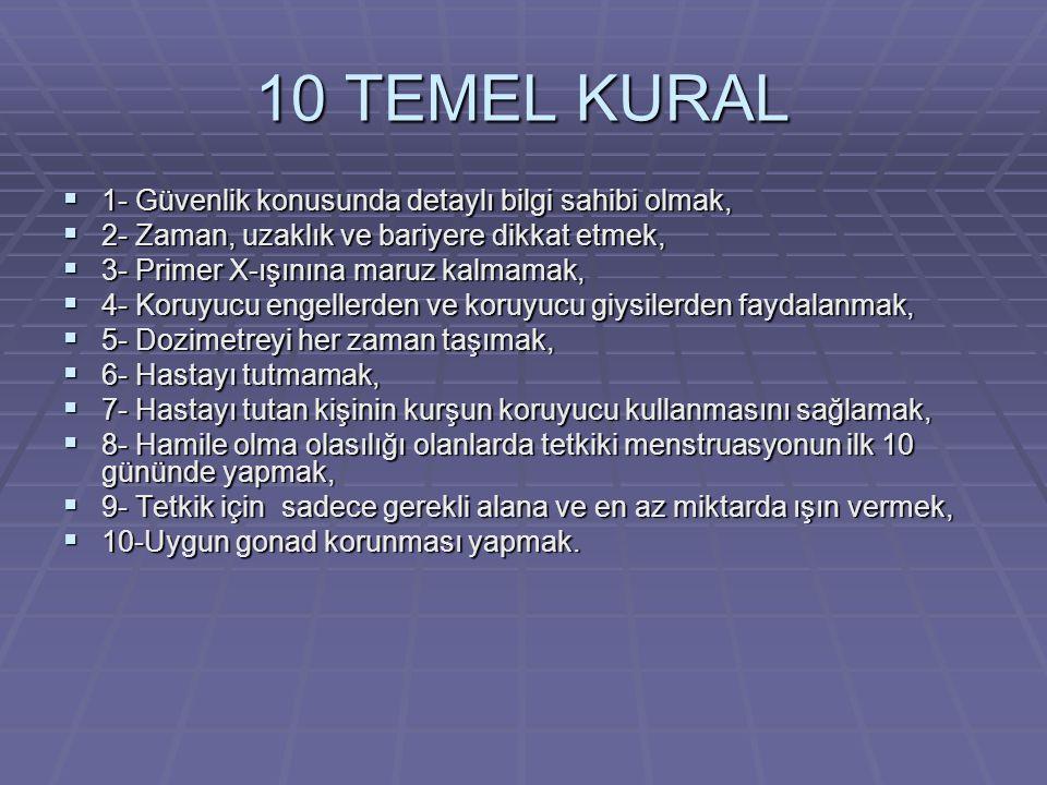 10 TEMEL KURAL 1- Güvenlik konusunda detaylı bilgi sahibi olmak,