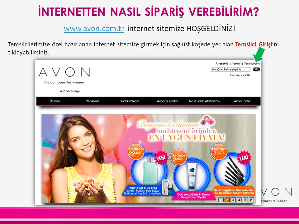 www.avon.com.tr internet sitemize HOŞGELDİNİZ!