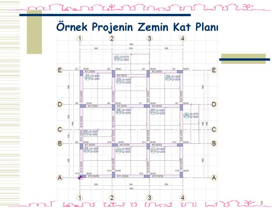 Örnek Projenin Zemin Kat Planı