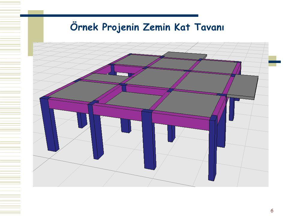 Örnek Projenin Zemin Kat Tavanı