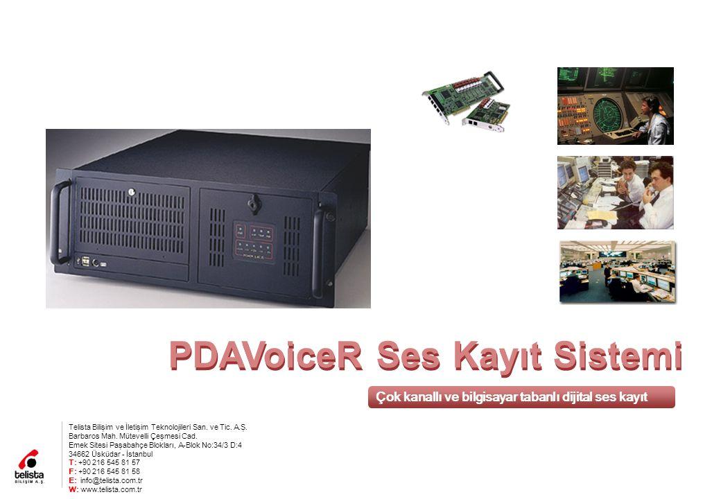 PDAVoiceR Ses Kayıt Sistemi