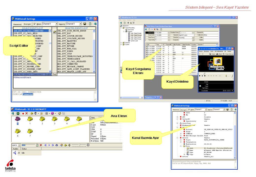 Sistem bileşeni – Ses Kayıt Yazılımı