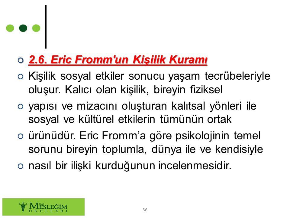 2.6. Eric Fromm un Kişilik Kuramı