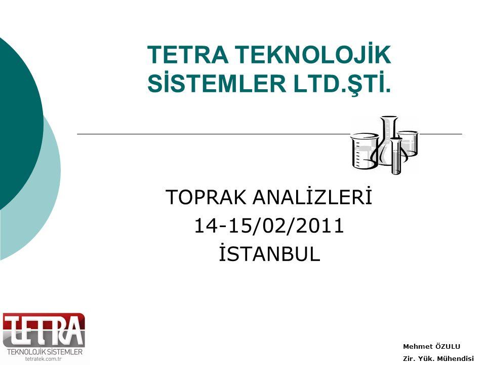 TETRA TEKNOLOJİK SİSTEMLER LTD.ŞTİ.