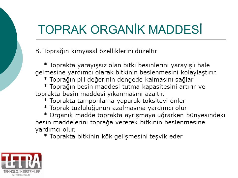 TOPRAK ORGANİK MADDESİ