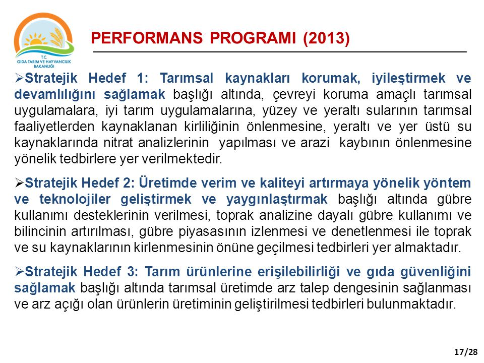 PERFORMANS PROGRAMI (2013)