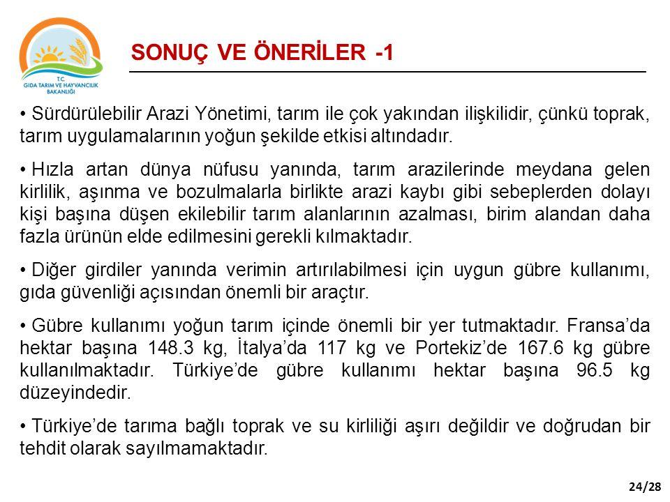 SONUÇ VE ÖNERİLER -1