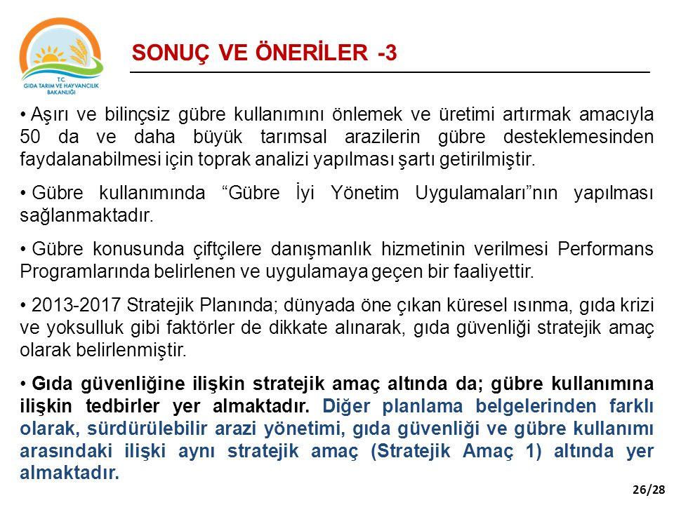 SONUÇ VE ÖNERİLER -3