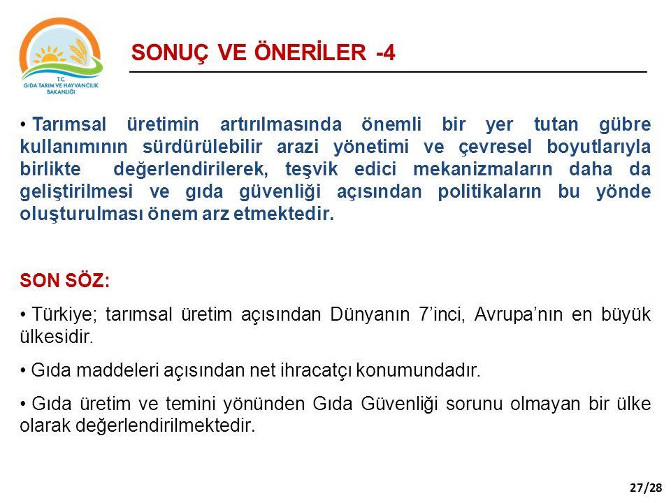 SONUÇ VE ÖNERİLER -4